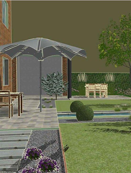 Skizze eines Gartenplans von Plan2Grün