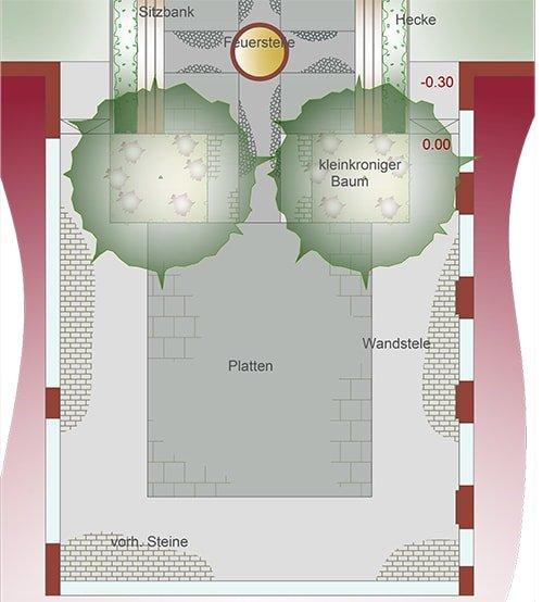 Skizze eines Plans für einen Garten von Plan2Grün