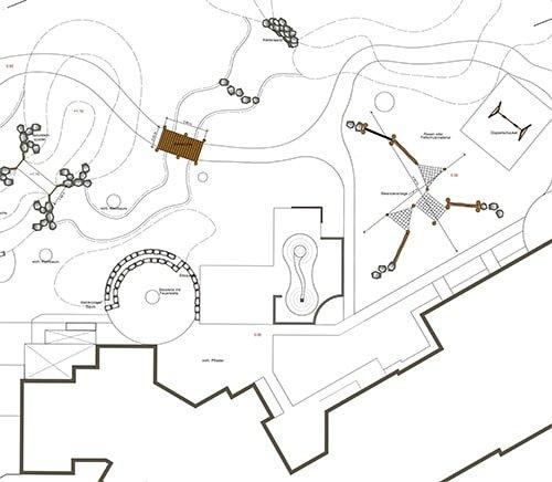 Vorplanungsskizze eines Gartens von Plan2Grün